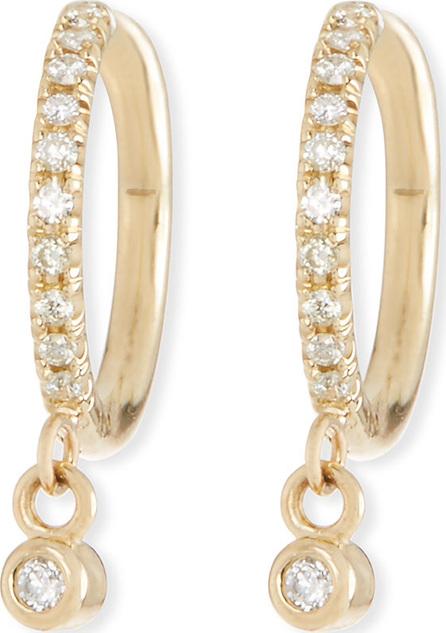 Zoe Chicco 14k Diamond Huggie Hoop Drop Earrings