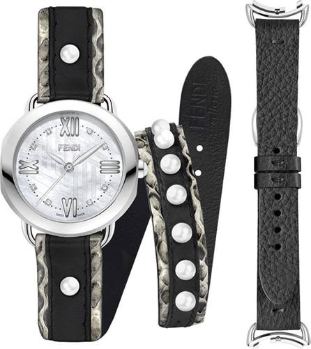 Fendi 36mm Selleria Watch Set w/ Diamonds