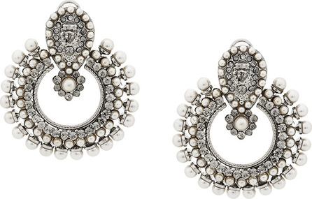 Etro Crystal pearl embellished earrings