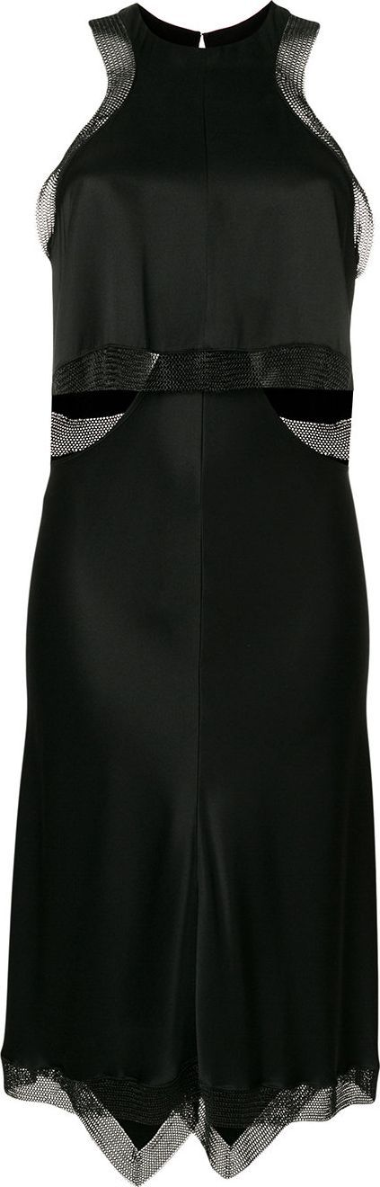 Alexander Wang Satin Slip dress with Chainmail Trim