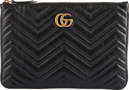 Gucci GG Marmont Quilted Leather Zip Pouch Bag