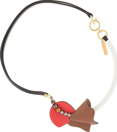 Marni Asymmetric leather necklace