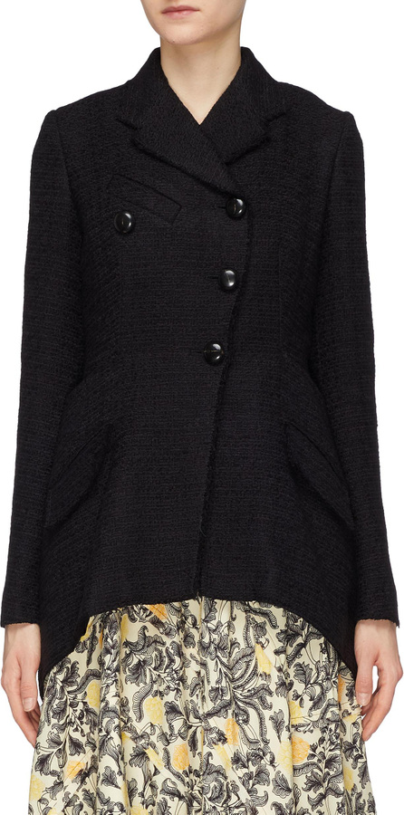Proenza Schouler Slant button placket tweed blazer
