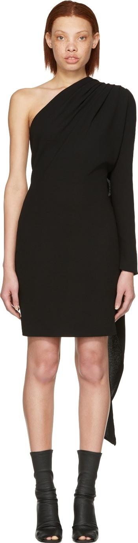 Gareth Pugh Black Scarf Single-Sleeve Dress
