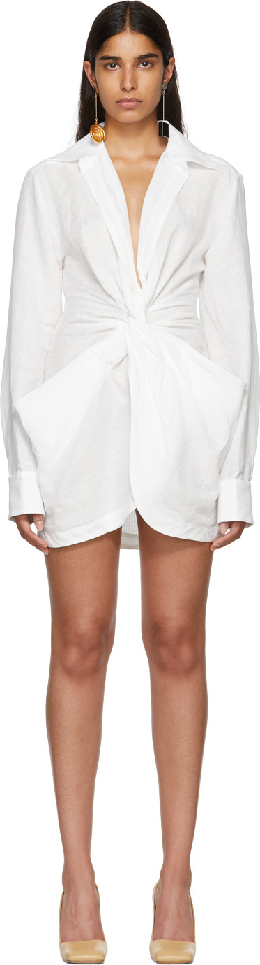 Jacquemus White 'La Robe Bolso' Dress