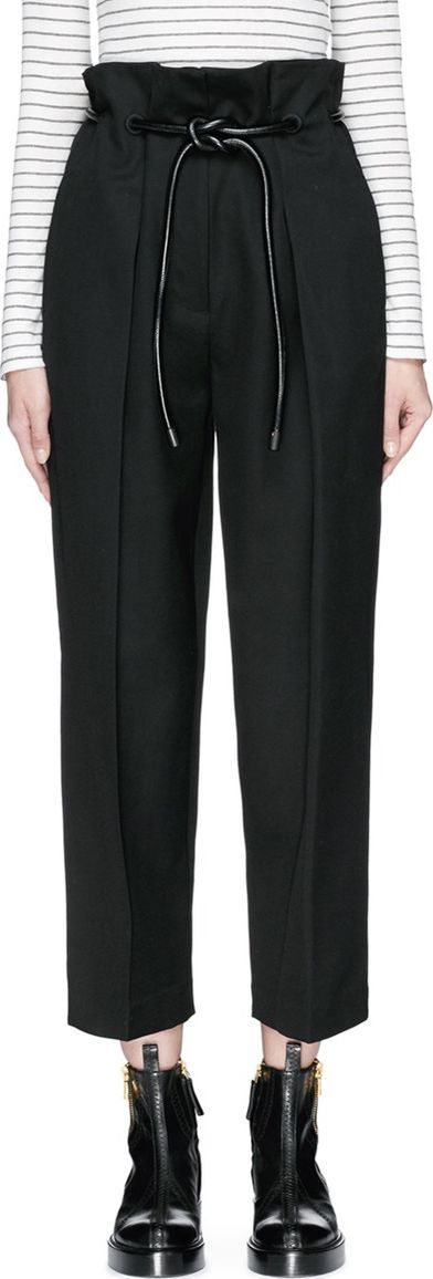 3.1 Phillip Lim 'Origami' drawstring waist pleated cropped paperbag pants