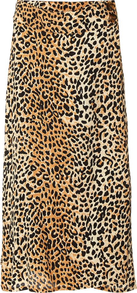 FAITHFULL Valois Leopard Midi Skirt
