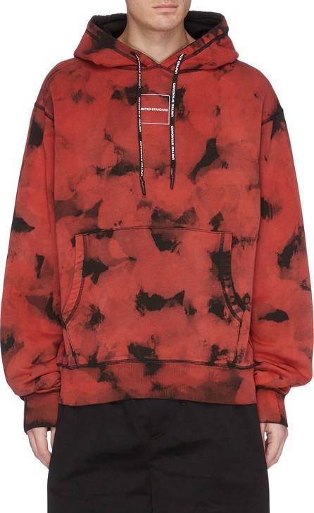 UNITED STANDARD 'Research' slogan print tie-dye effect hoodie