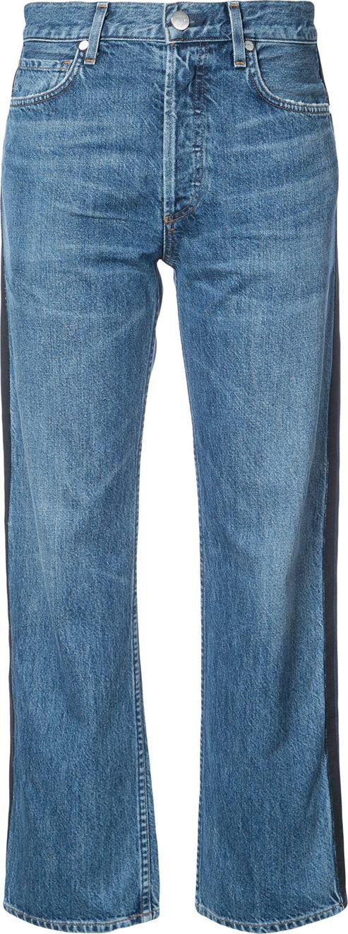Jean Atelier - side stripe cropped boyfriend jeans
