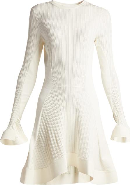Esteban Cortazar Rib-knit fluted midi dress