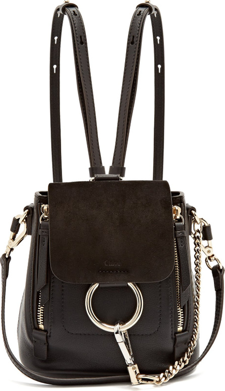 Chloe Faye suede and leather mini backpack