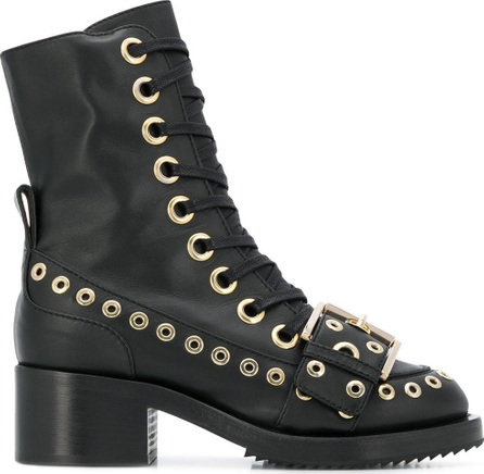 Nº21 Eyelet detail ankle boots