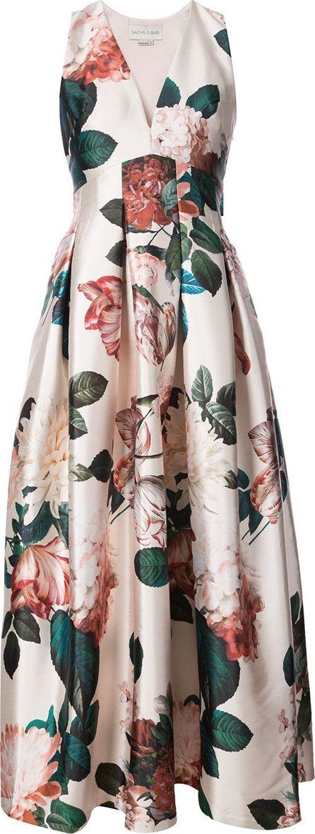 Sachin & Babi Rubie floral-print gown