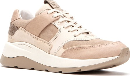 Frye Willow Low Lace-Up Leather/Suede Running Sneakers