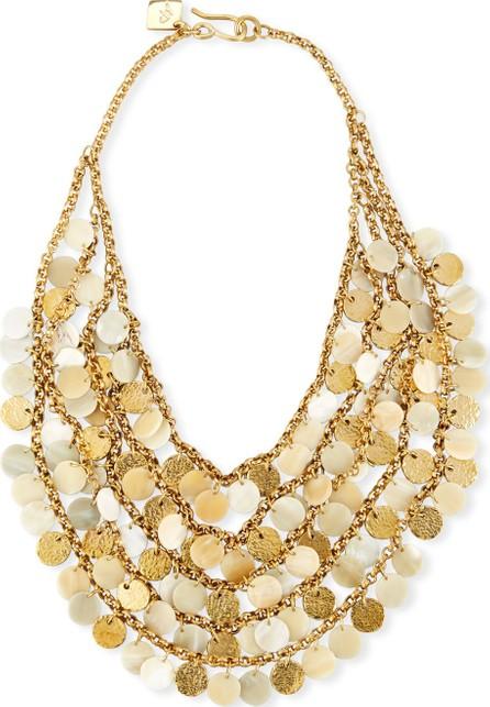 Ashley Pittman Jamaa Light Horn Bib Necklace