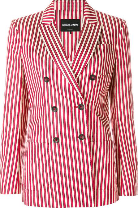 Giorgio Armani Striped double-breasted blazer