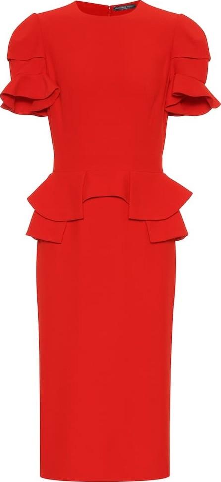 Alexander McQueen Silk-blend midi dress