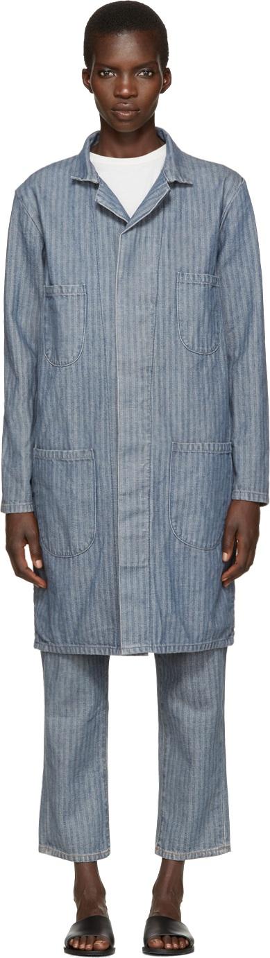 6397 Indigo Herringbone Denim Work Coat