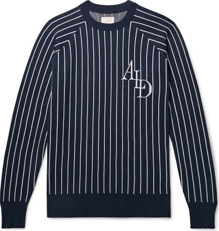 Aimé Leon Dore Logo-Intarsia Striped Cotton Sweater