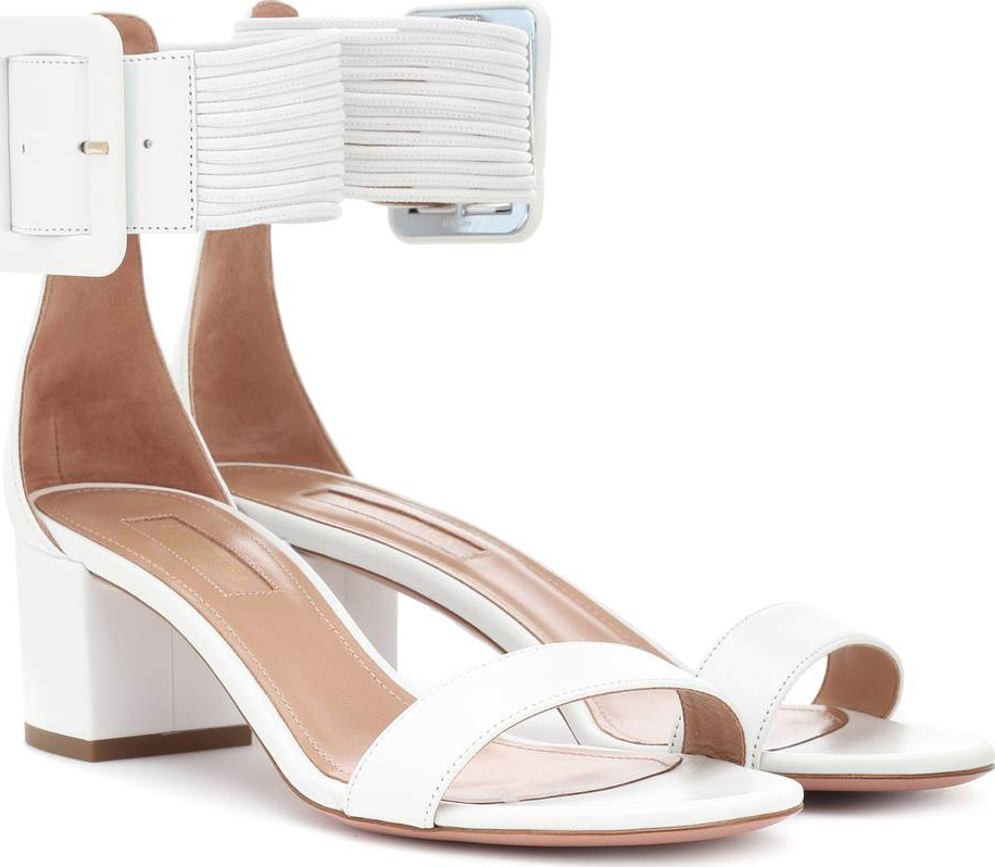Aquazzura - Casablanca 100 leather sandals
