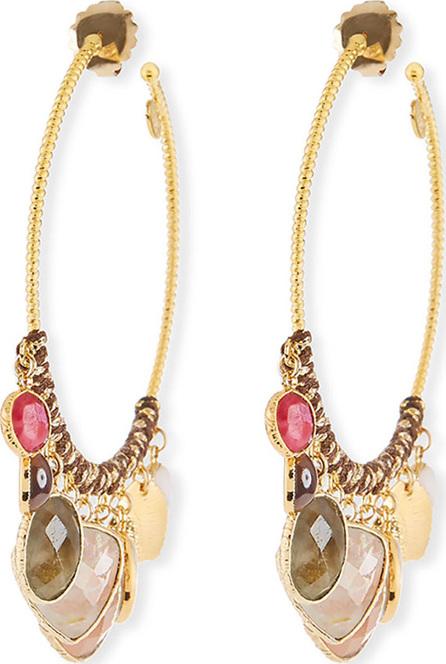 GAS Bijoux Aanastasia Quartz Hoop Earrings