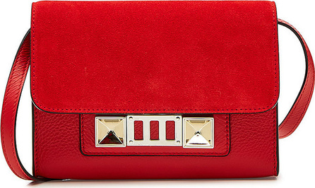 Proenza Schouler PS11 Suede Wallet on Strap with Leather