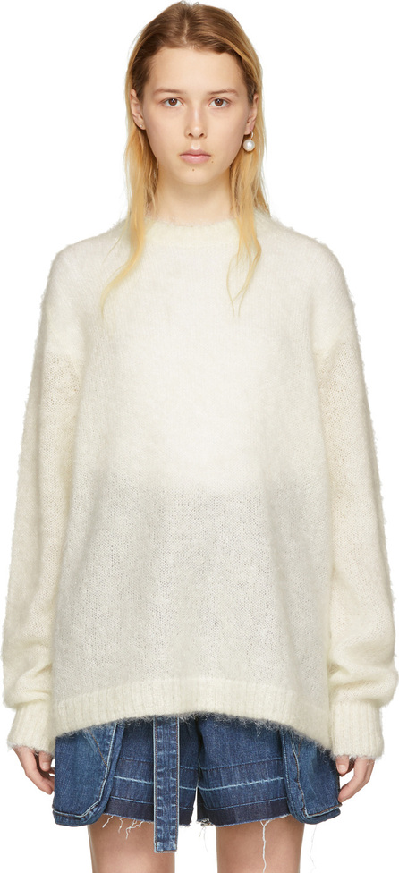 Acne Studios Off-White Mohair Maxhi Sweater