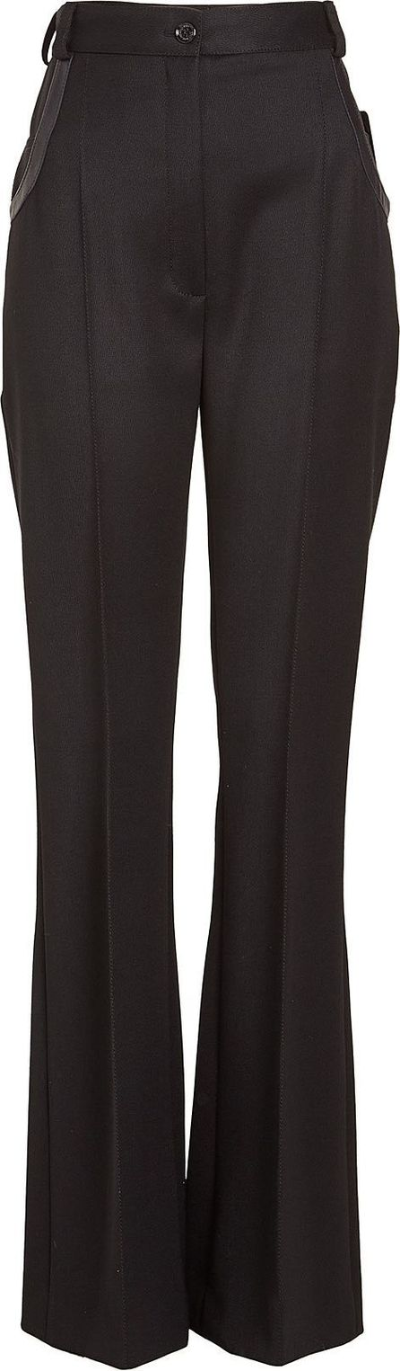 Nina Ricci Wool Pants with Leather Trims
