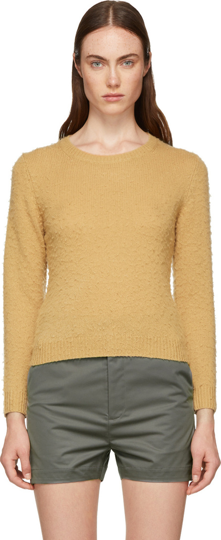 Acne Studios Brown Shrunken Fit Crewneck Sweater