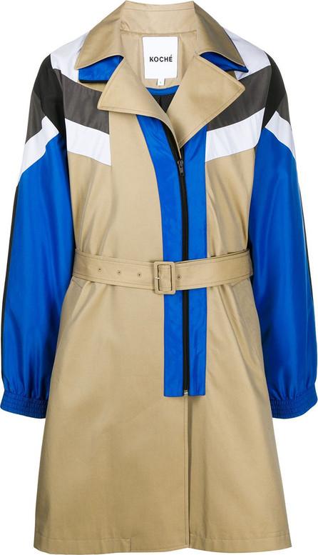 KOCHÉ Colour-block trench coat