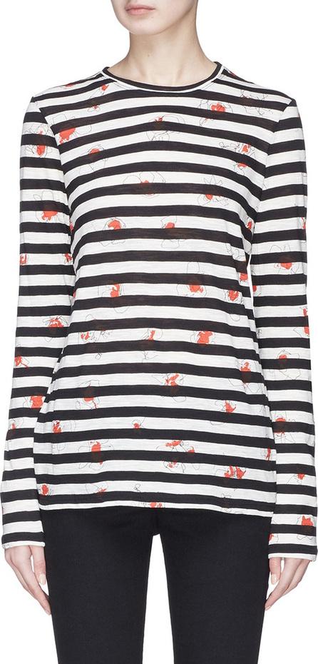 Proenza Schouler Floral print stripe T-shirt
