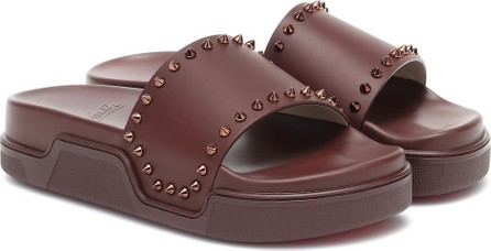 Christian Louboutin Pool Stud leather slides