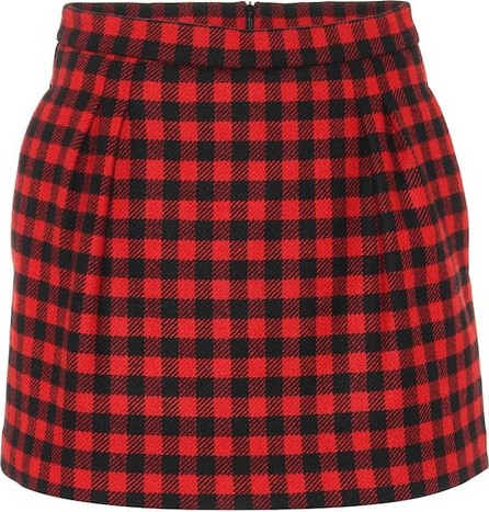RED Valentino Checked wool-blend shorts