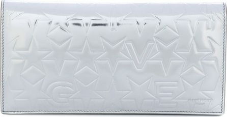 Givenchy star embroidered metallic wallet