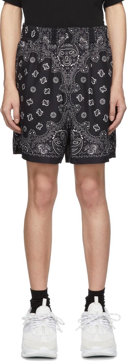 Alexander Wang Black & Grey Silk Bandana Shorts