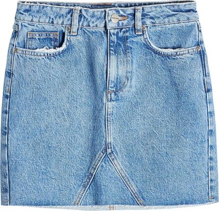 ANINE BING Cut-Off Denim Mini Skirt