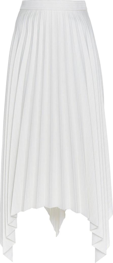 Acne Studios Ilisie High-Waisted Pleated And Striped Wool-Blend Mini Skirt