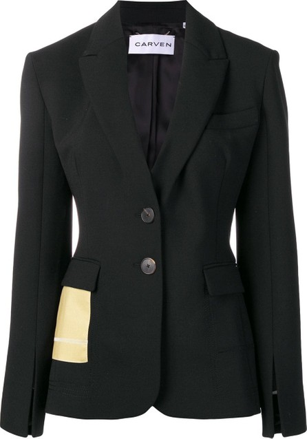 Carven Contrast pocket blazer