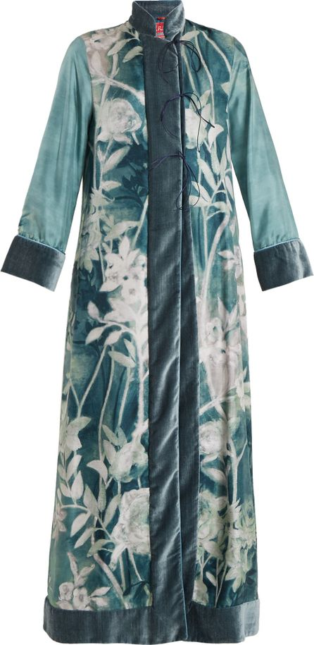F.R.S For Restless Sleepers Euribia Ramage floral-print lace-up silk kimono