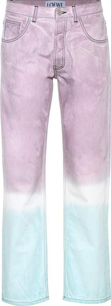 LOEWE Tie-dye straight-leg jeans