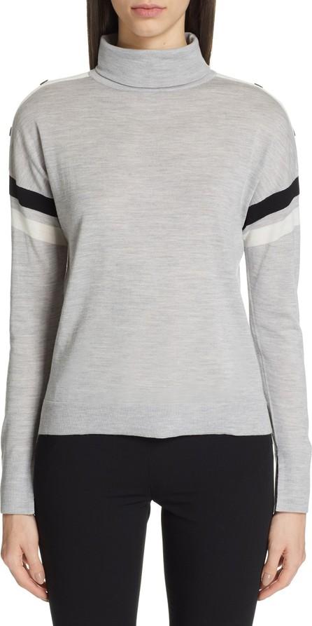 Akris Punto Shoulder Snap Merino Wool Sweater