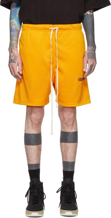 Essentials Yellow Mesh Logo Shorts