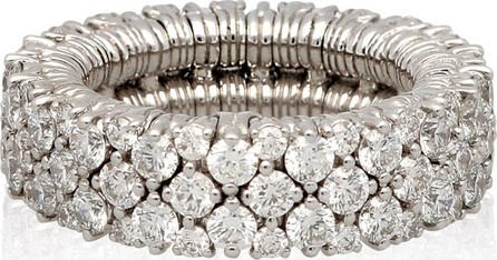Roberto Demeglio CASHMERE 18k White Gold Diamond Stretch Ring