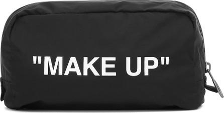 Off White Nylon cosmetics case