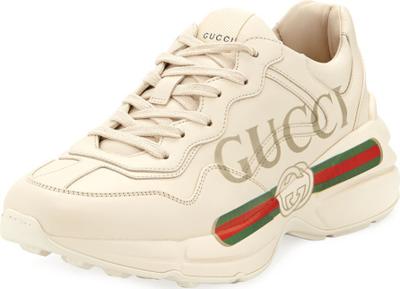 Gucci Gucci-Print Leather Sneakers