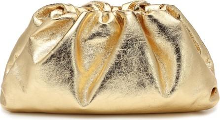 Bottega Veneta The Pouch metallic leather clutch