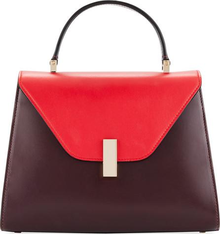 Valextra Iside Medium Colorblock Calf Leather Top-Handle Bag
