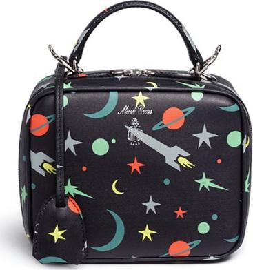 Mark Cross 'Baby Laura' leather box bag in Blastoff print