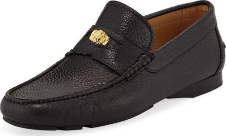 Versace Men's Signature Medusa Textured Leather Loafer