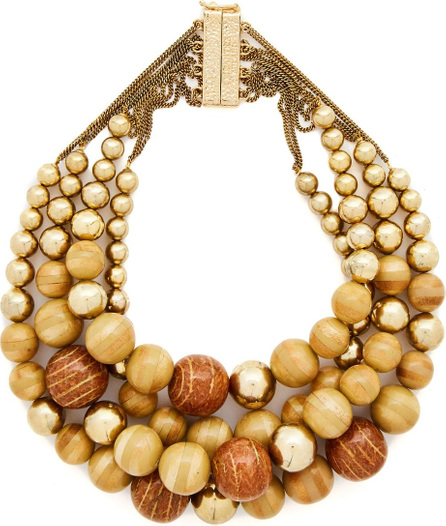 Rosantica Cicala layered wooden-bead necklace